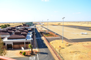 Apollo lighting fitted at Mafikeng Airport